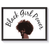 Black Girl Power Poster