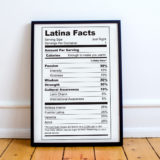 Latina Facts Poster