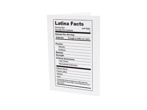Latina Facts Greeting Card
