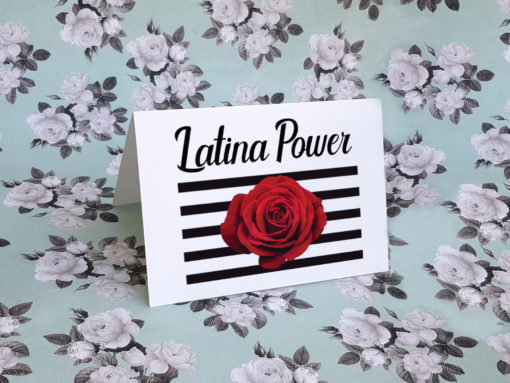 Latina Power Greeting Card